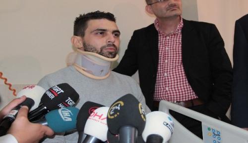 Hollanda'da saldırıya uğrayan Hüseyin Kurt, Türkiye'de