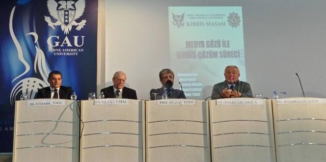 Medya gözü ile Kıbrıs çözüm süreci, GAÜ'de masaya yatırıldı