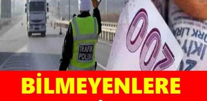 Trafik cezaları güncellendi