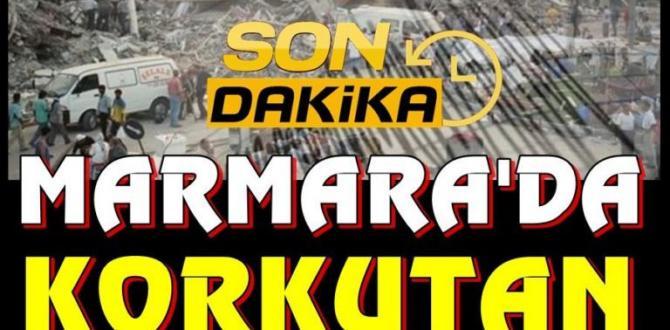 Son dakika | Marmara Denizi'nde korkutan deprem !