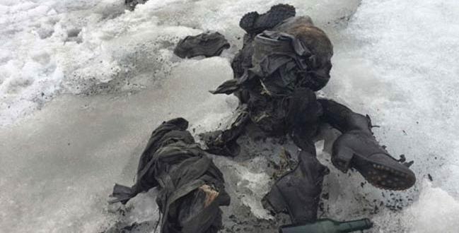 75 yıl sonra İsviçre buzullarında
