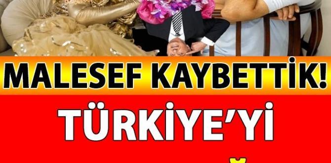 Malesef Kaybettik! Türkiye'yi YASA Boğan Haber