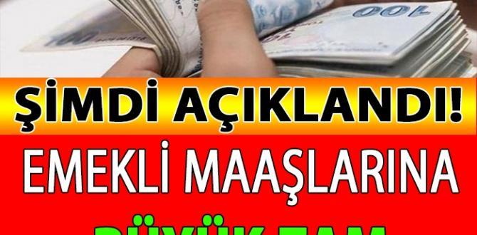 EMEKLİYE MÜJDE: Emekli Maaşlarına BÜYÜK ZAM Yapıldı..
