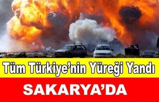 SON DAKİKA! Sakarya'da Bir Patlama Daha Oldu!