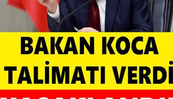 Bakan Koca Talimatı Verdi: Yasaklandı!